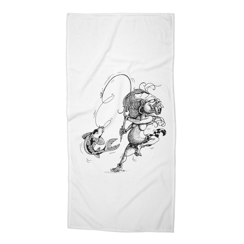 Celuluk Pisces Accessories Beach Towel by DuMBSTRaCK CLoTH iNK PROJECT