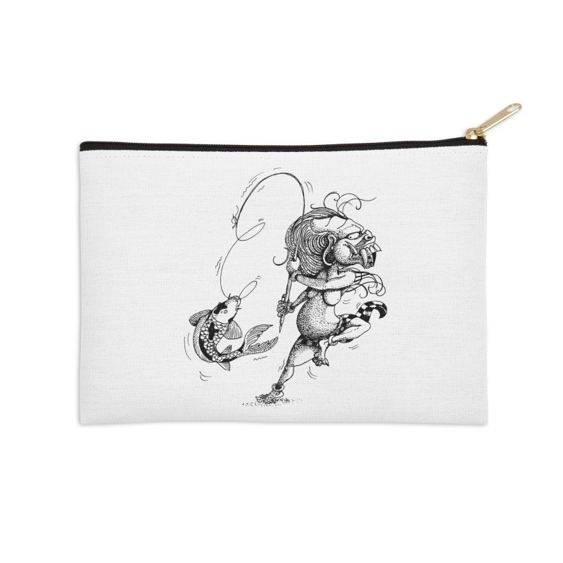 Celuluk Pisces Accessories Zip Pouch by DuMBSTRaCK CLoTH iNK PROJECT