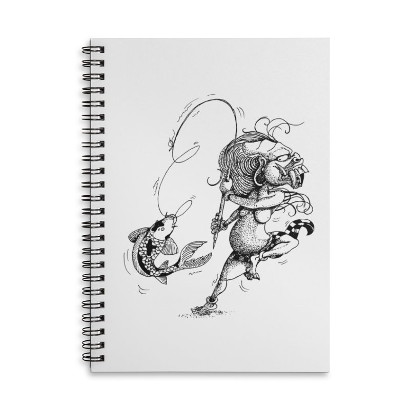 Celuluk Pisces Accessories Lined Spiral Notebook by DuMBSTRaCK CLoTH iNK PROJECT
