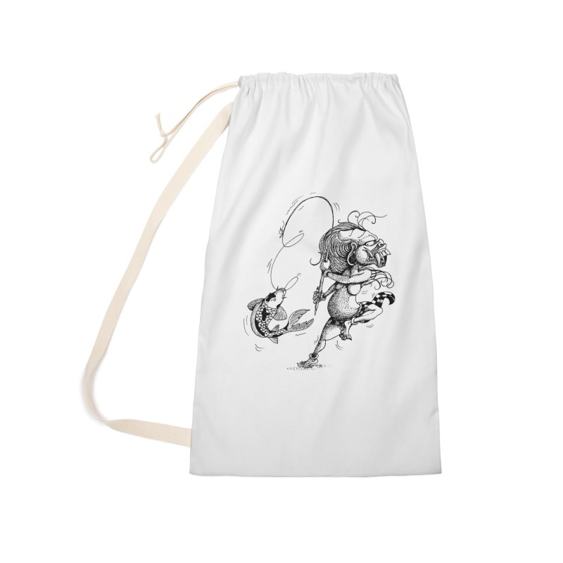 Celuluk Pisces Accessories Laundry Bag Bag by DuMBSTRaCK CLoTH iNK PROJECT