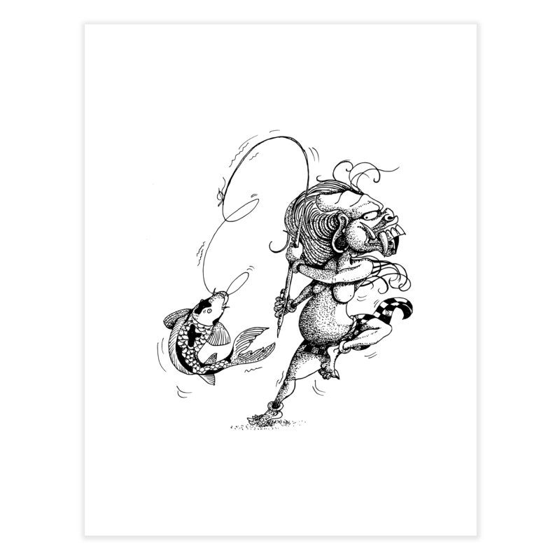Celuluk Pisces Home Fine Art Print by DuMBSTRaCK CLoTH iNK PROJECT