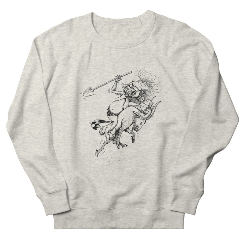 Celuluk Capricorn Men's French Terry Sweatshirt by DuMBSTRaCK CLoTH iNK PROJECT