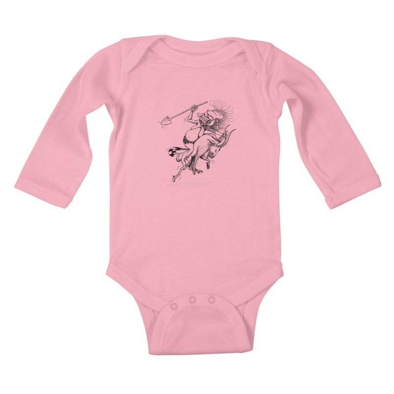 Celuluk Capricorn Kids Baby Longsleeve Bodysuit by DuMBSTRaCK CLoTH iNK PROJECT