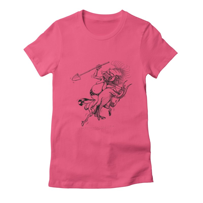 Celuluk Capricorn Women's Fitted T-Shirt by DuMBSTRaCK CLoTH iNK PROJECT