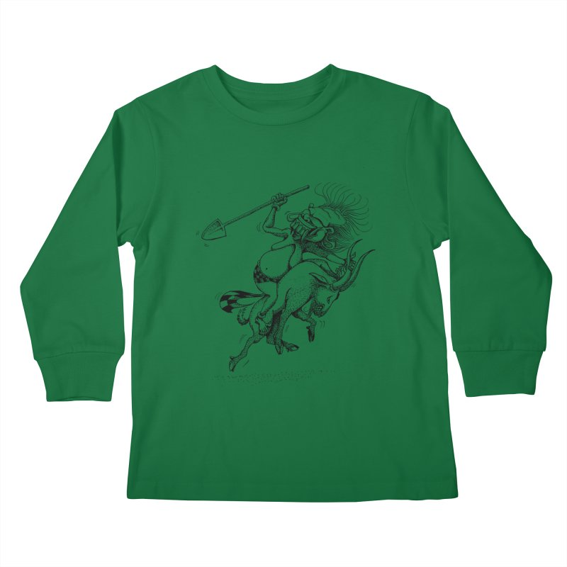 Celuluk Capricorn Kids Longsleeve T-Shirt by DuMBSTRaCK CLoTH iNK PROJECT