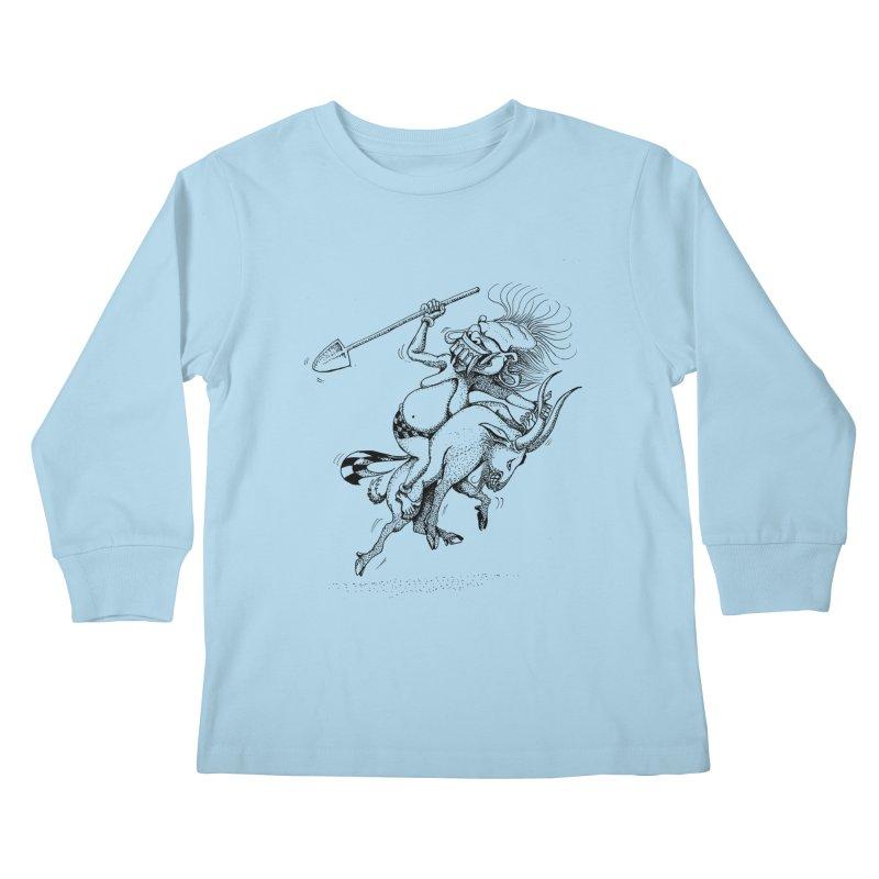 Celuluk Capricorn Kids Longsleeve T-Shirt by DuMBSTRaCK CLoTH iNK PROJECT