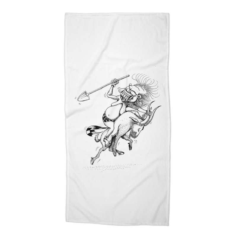 Celuluk Capricorn Accessories Beach Towel by DuMBSTRaCK CLoTH iNK PROJECT