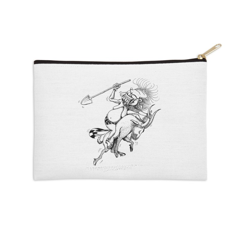 Celuluk Capricorn Accessories Zip Pouch by DuMBSTRaCK CLoTH iNK PROJECT