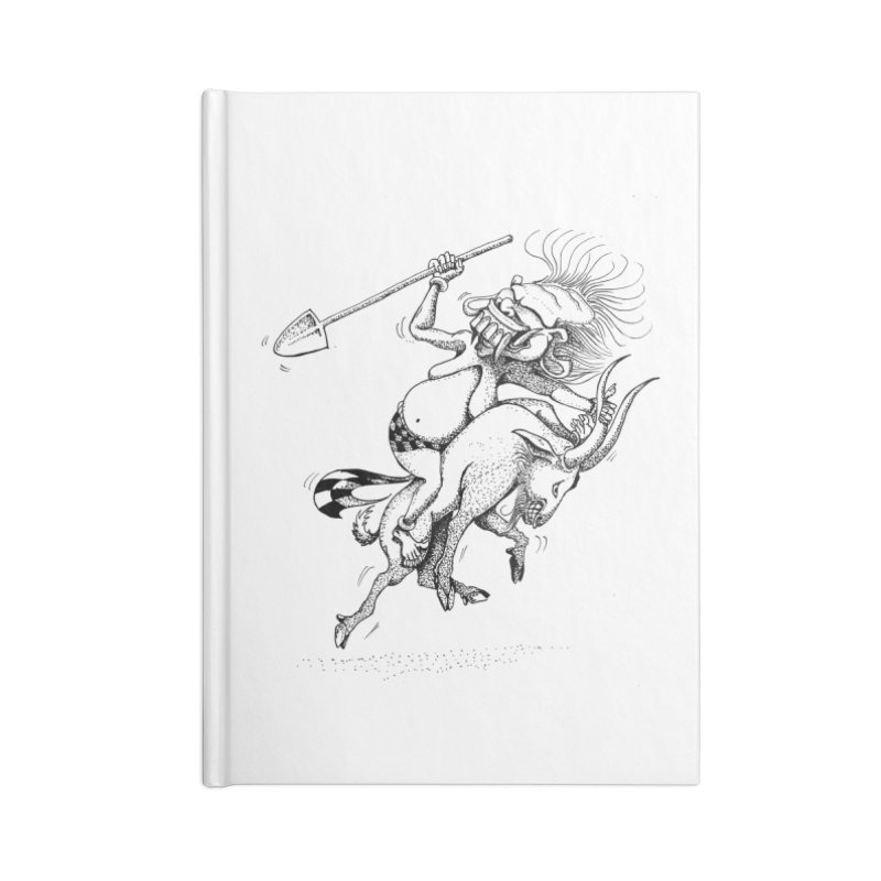 Celuluk Capricorn Accessories Blank Journal Notebook by DuMBSTRaCK CLoTH iNK PROJECT