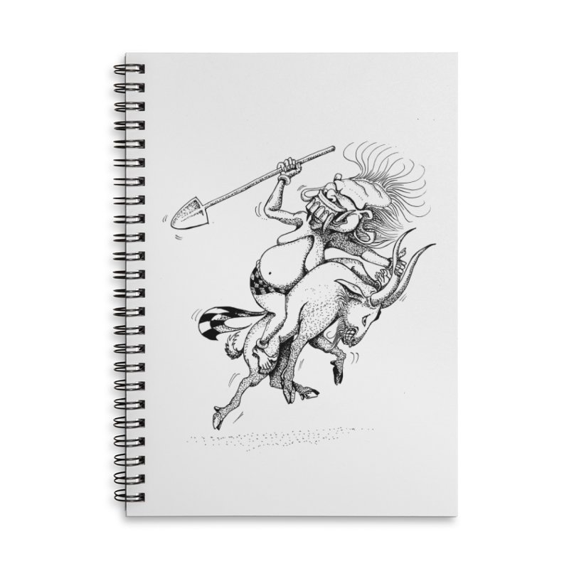 Celuluk Capricorn Accessories Lined Spiral Notebook by DuMBSTRaCK CLoTH iNK PROJECT