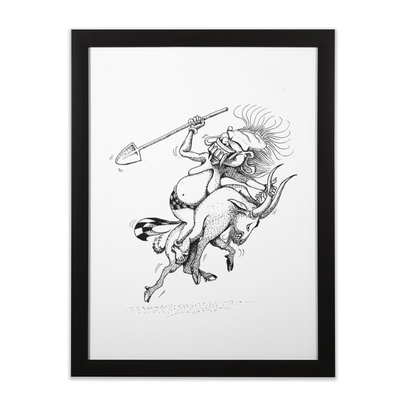 Celuluk Capricorn Home Framed Fine Art Print by DuMBSTRaCK CLoTH iNK PROJECT