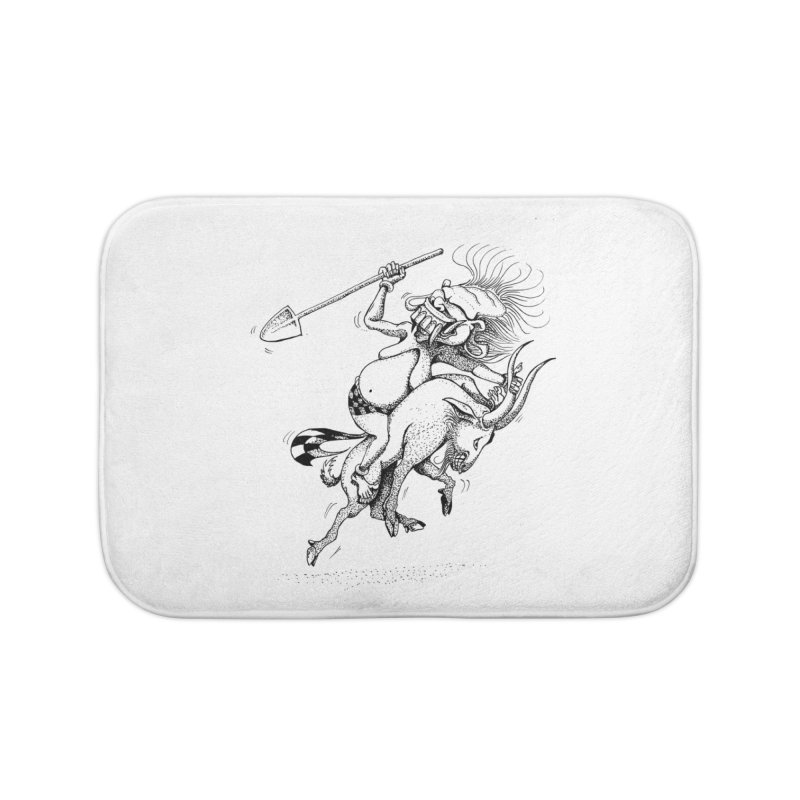 Celuluk Capricorn Home Bath Mat by DuMBSTRaCK CLoTH iNK PROJECT
