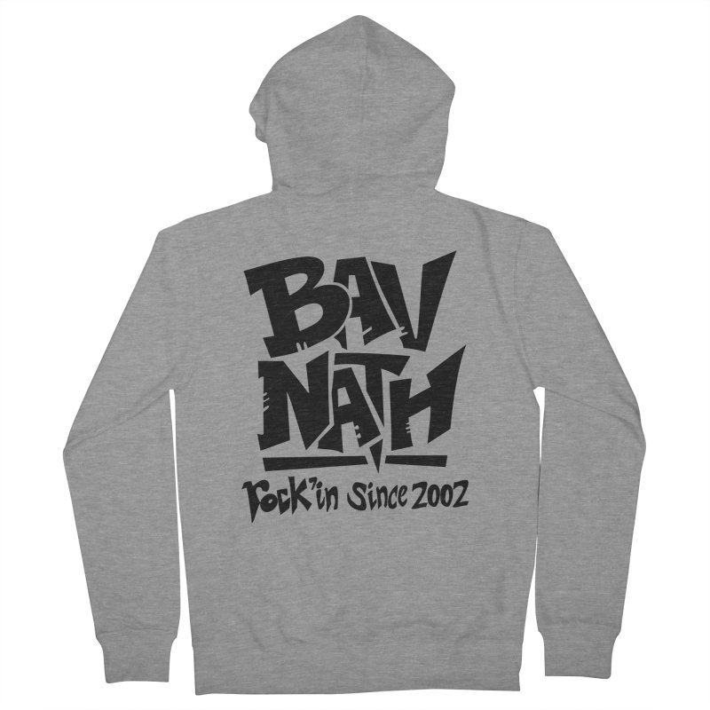 Bavnath Men's French Terry Zip-Up Hoody by DuMBSTRaCK CLoTH iNK PROJECT
