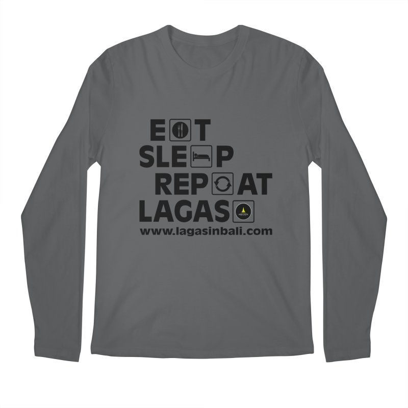 Eat Sleep Repeat Lagas Hostel Men's Regular Longsleeve T-Shirt by DuMBSTRaCK CLoTH iNK PROJECT