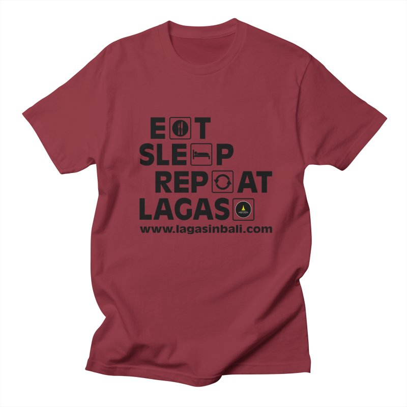 Eat Sleep Repeat Lagas Hostel Men's Regular T-Shirt by DuMBSTRaCK CLoTH iNK PROJECT