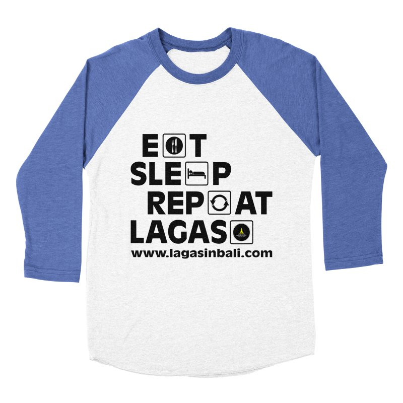 Eat Sleep Repeat Lagas Hostel Men's Baseball Triblend Longsleeve T-Shirt by DuMBSTRaCK CLoTH iNK PROJECT