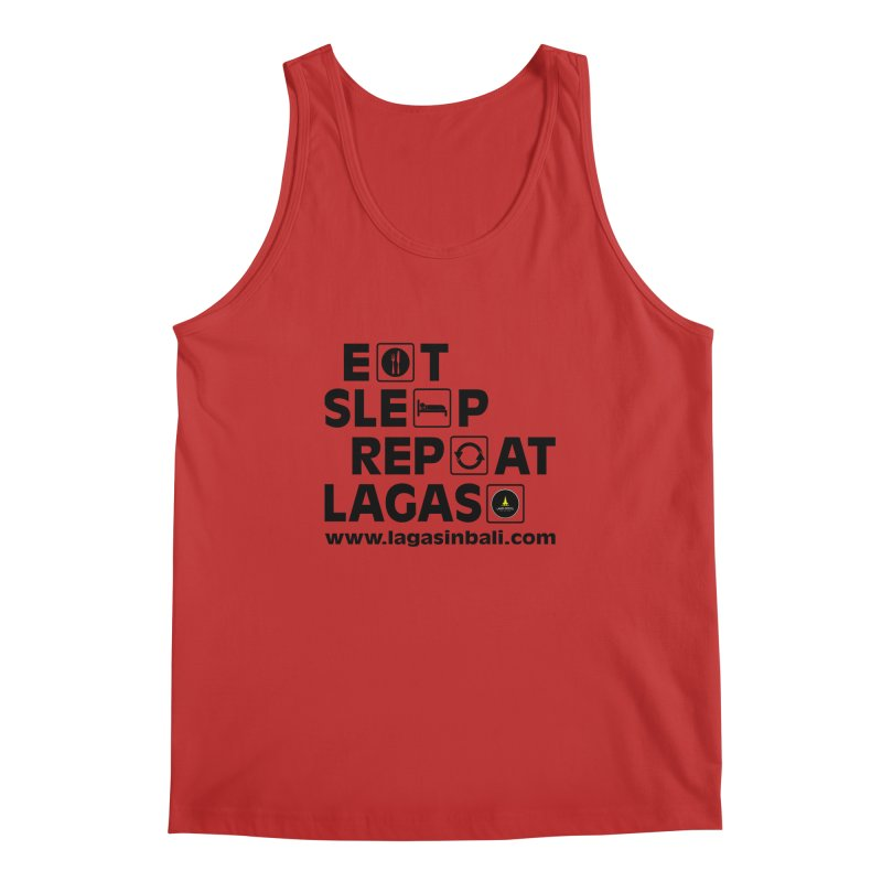 Eat Sleep Repeat Lagas Hostel Men's Regular Tank by DuMBSTRaCK CLoTH iNK PROJECT