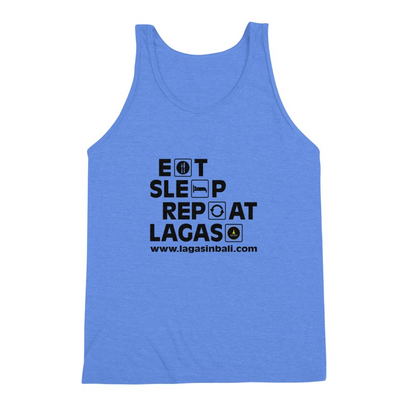 Eat Sleep Repeat Lagas Hostel Men's Triblend Tank by DuMBSTRaCK CLoTH iNK PROJECT