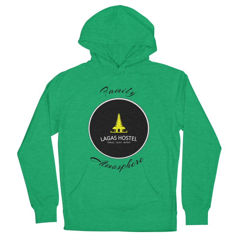 Family Atmosphere Lagas Hostel Women's French Terry Pullover Hoody by DuMBSTRaCK CLoTH iNK PROJECT