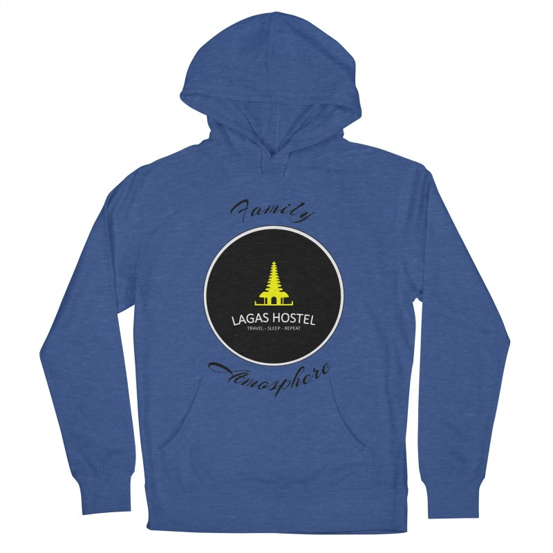 Family Atmosphere Lagas Hostel Men's French Terry Pullover Hoody by DuMBSTRaCK CLoTH iNK PROJECT