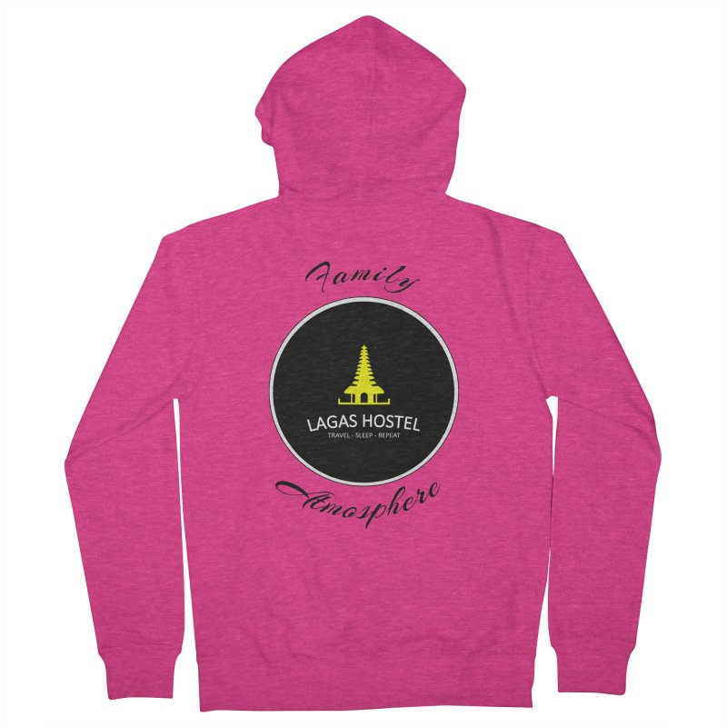 Family Atmosphere Lagas Hostel Women's French Terry Zip-Up Hoody by DuMBSTRaCK CLoTH iNK PROJECT