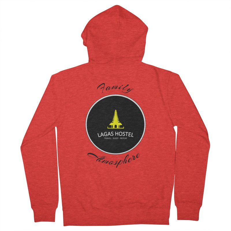 Family Atmosphere Lagas Hostel Men's Zip-Up Hoody by DuMBSTRaCK CLoTH iNK PROJECT