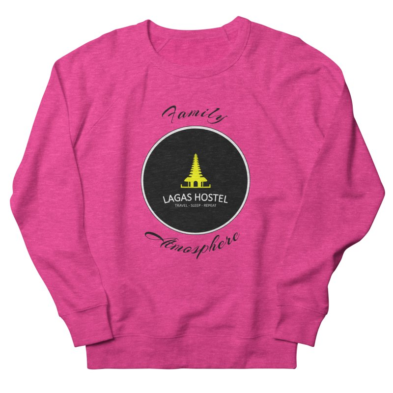 Family Atmosphere Lagas Hostel Men's French Terry Sweatshirt by DuMBSTRaCK CLoTH iNK PROJECT