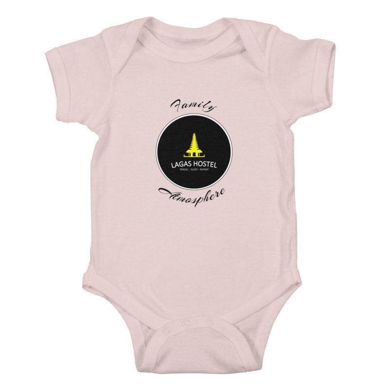 Family Atmosphere Lagas Hostel Kids Baby Bodysuit by DuMBSTRaCK CLoTH iNK PROJECT