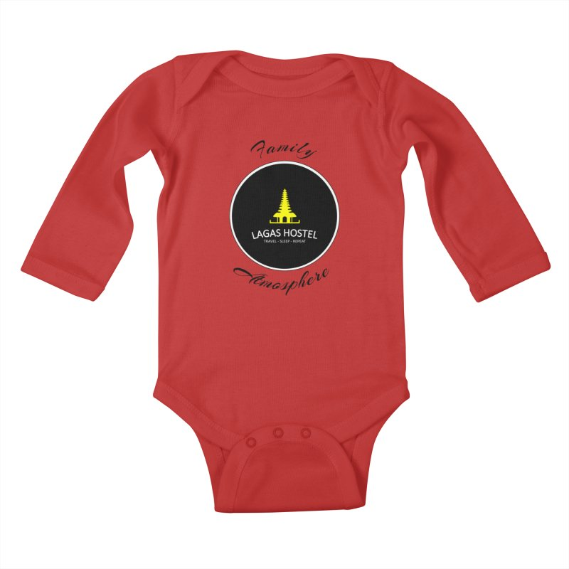 Family Atmosphere Lagas Hostel Kids Baby Longsleeve Bodysuit by DuMBSTRaCK CLoTH iNK PROJECT