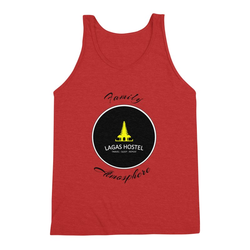 Family Atmosphere Lagas Hostel Men's Triblend Tank by DuMBSTRaCK CLoTH iNK PROJECT