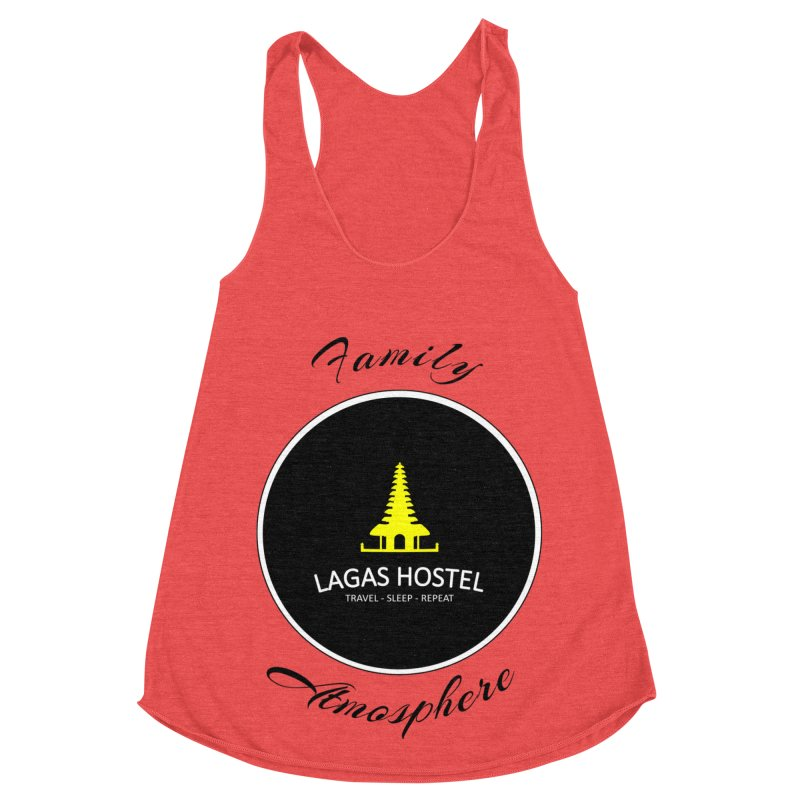 Family Atmosphere Lagas Hostel Women's Racerback Triblend Tank by DuMBSTRaCK CLoTH iNK PROJECT