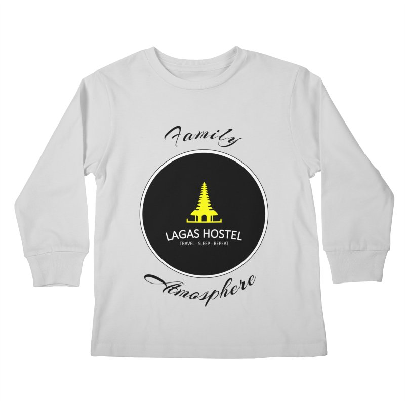 Family Atmosphere Lagas Hostel Kids Longsleeve T-Shirt by DuMBSTRaCK CLoTH iNK PROJECT