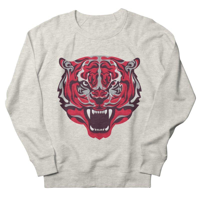 Eye of the Tiger in Men's Sweatshirt Heather Oatmeal by Duncan Sham