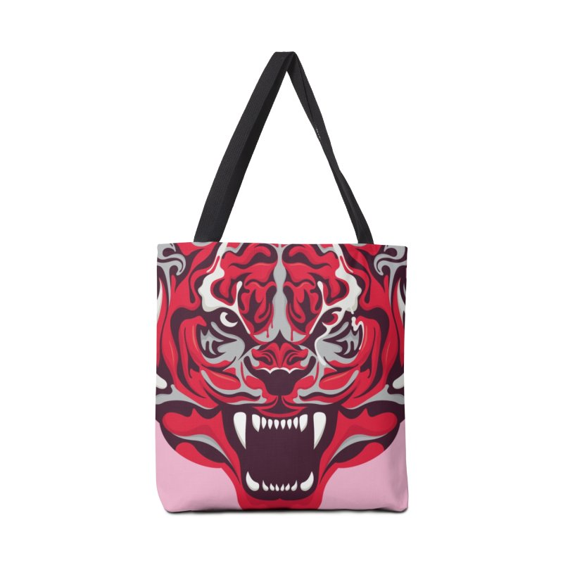 Eye of the Tiger in Tote Bag by Duncan Sham