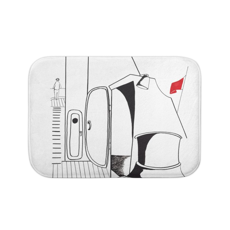 On Deck/Nautical Pen and Ink Drawing Home Bath Mat by duocuspdesign Artist Shop