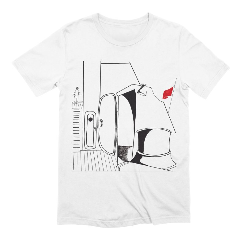 On Deck/Nautical Pen and Ink Drawing Men's Extra Soft T-Shirt by duocuspdesign Artist Shop