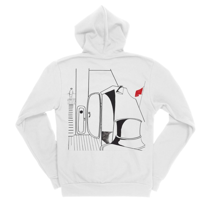 On Deck/Nautical Pen and Ink Drawing Women's Zip-Up Hoody by duocuspdesign Artist Shop