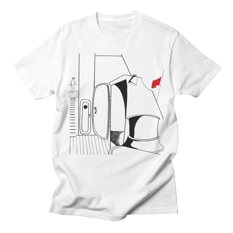 On Deck/Nautical Pen and Ink Drawing Men's T-Shirt by duocuspdesign Artist Shop