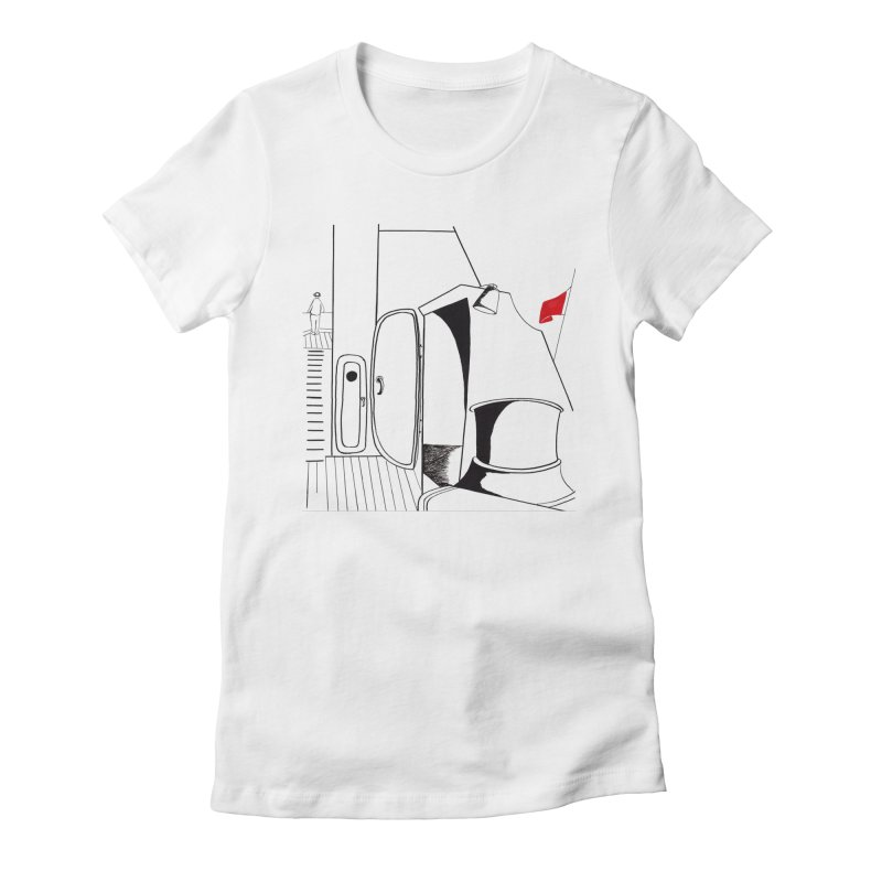 On Deck/Nautical Pen and Ink Drawing Women's T-Shirt by duocuspdesign Artist Shop