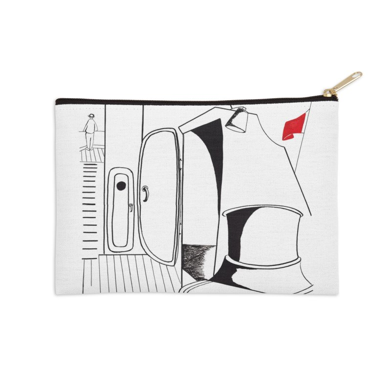 On Deck/Nautical Pen and Ink Drawing Accessories Zip Pouch by duocuspdesign Artist Shop