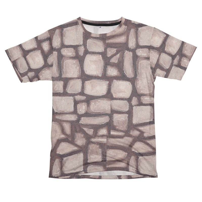 The Wall Men's French Terry T-Shirt Cut & Sew by duocuspdesign Artist Shop