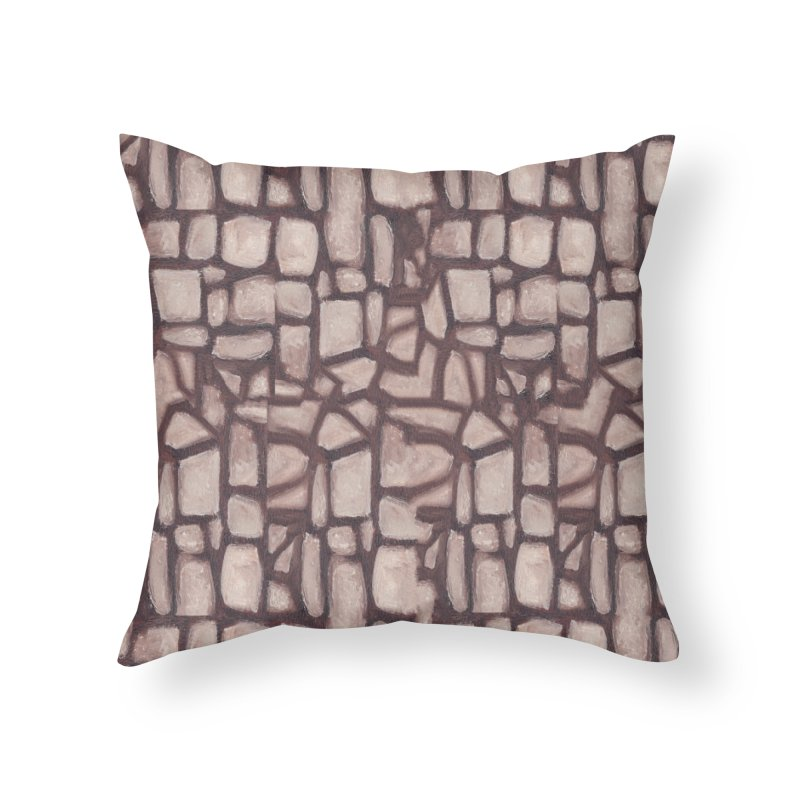 The Wall Home Throw Pillow by duocuspdesign Artist Shop