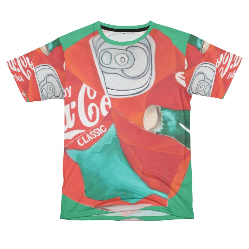 Crushed Coke in Green Men's French Terry T-Shirt Cut & Sew by duocuspdesign Artist Shop
