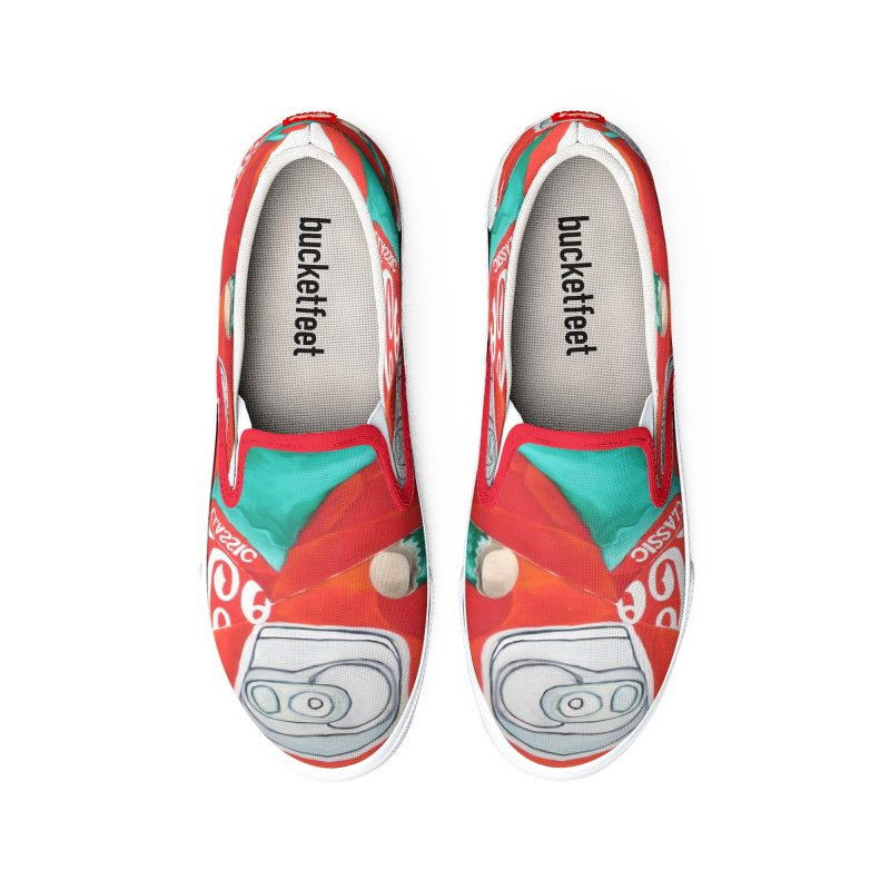 Crushed Coke in Green Women's Shoes by duocuspdesign Artist Shop