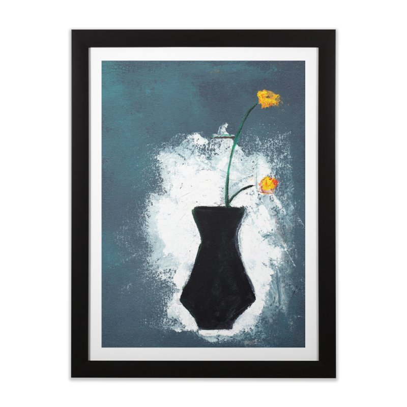 Yellow Flowers in Vase Home Framed Fine Art Print by duocuspdesign Artist Shop