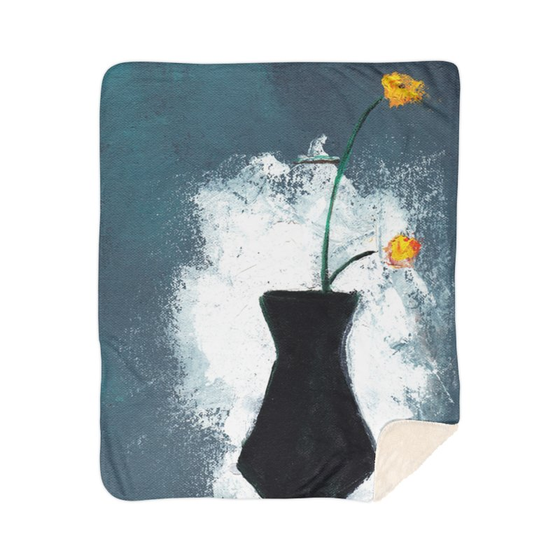 Yellow Flowers in Vase Home Blanket by duocuspdesign Artist Shop