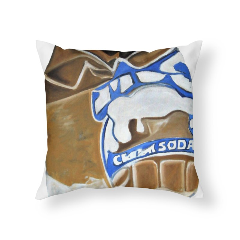 Mug Cream Soda Crushed Can Series Home Throw Pillow by duocuspdesign Artist Shop