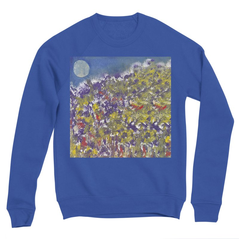 Early Moon and Wildflowers Men's Sweatshirt by duocuspdesign Artist Shop