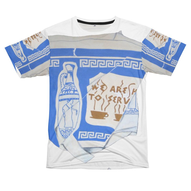 Take-out Coffee Cup Crushed Men's T-Shirt Cut & Sew by duocuspdesign Artist Shop