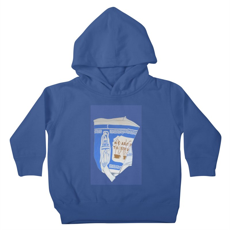 Take-out Coffee Cup Crushed Kids Toddler Pullover Hoody by duocuspdesign Artist Shop